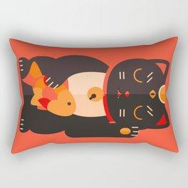 Beckoning Cat Rectangular Pillow