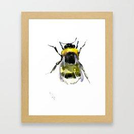 Bumblebee, bee artwork, bee design minimalist honey making design Framed Art Print