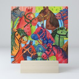 Happy Hobby-Horses Mini Art Print