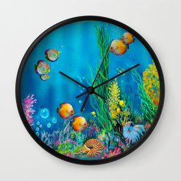 Undersea with Nautilus Wall Clock