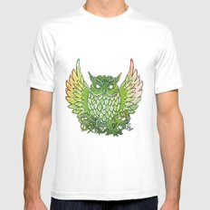 owl Mens Fitted Tee MEDIUM White