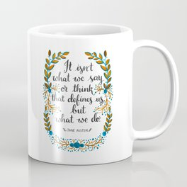 What Defines Us (Light) Coffee Mug