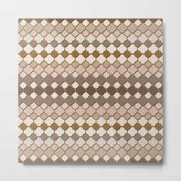 Pattern in Moroccan Style Metal Print