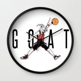 The G.O.A.T. Wall Clock