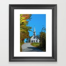 Chapel on the hill Framed Art Print