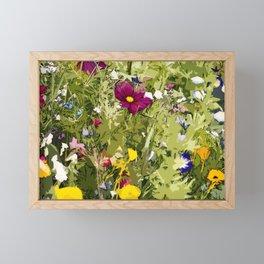 Wild Flowerbed Framed Mini Art Print