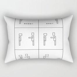 Bobby and Magy Rectangular Pillow