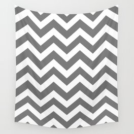 Sonic silver - grey color - Zigzag Chevron Pattern Wall Tapestry