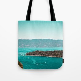 Even in the summer this lake looks like a frozen glass. Tote Bag