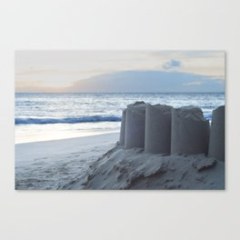 Sand Castle Sunset Canvas Print