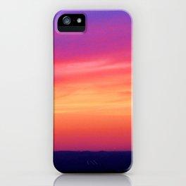 Neon Sunset iPhone Case