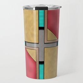 Quad - Geometric Art Deco Design Travel Mug
