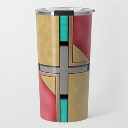 Quad - Geometric Art Deco Design Travel Mug