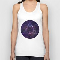 deathly hallows Tank Tops featuring Deathly Hallows in Space by Hannah Ison