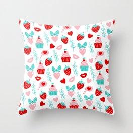 Valentine's Day Sweet Treats Throw Pillow