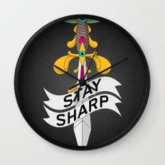 Stay Sharp! Wall Clock