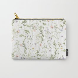 Pastel Vintage Flowers Carry-All Pouch