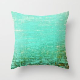 Vintage Blue Throw Pillow