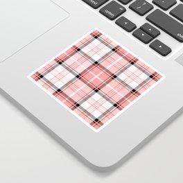 Pink Tartan Sticker