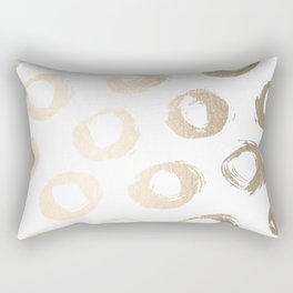 Luxe Gold City Dot Circles Rectangular Pillow