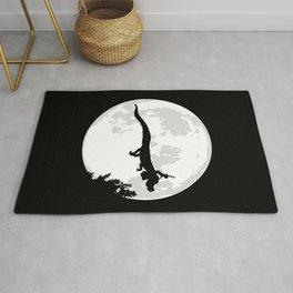 Falkor Moon Black Rug
