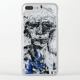 blue man Clear iPhone Case