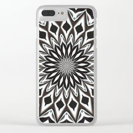 Black And White Decorative Mandala Clear iPhone Case