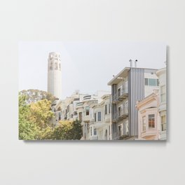 Coit Tower - San Francisco Photography Metal Print