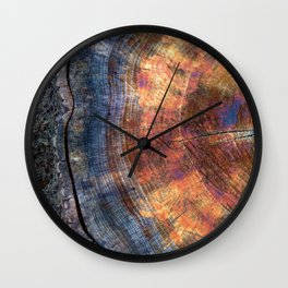 Macro Tree Stump Ring Wall Clock