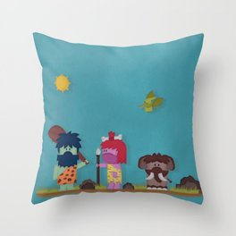 Prehistoricus Monstris Throw Pillow
