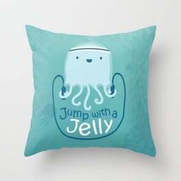 Jump with a Jelly Throw Pillow