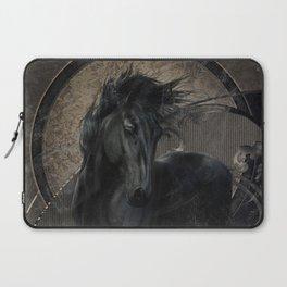 Gothic Friesian Horse Laptop Sleeve