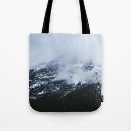 Mountains and Fog | Jasper Skywalk | By Magda Opoka Tote Bag