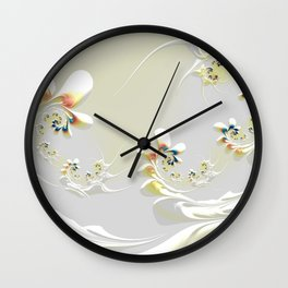 Lily Chains Wall Clock