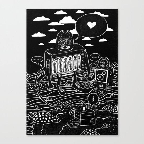 sound check Canvas Print