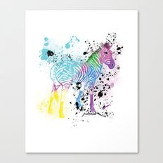Georgy's Zebra Canvas Print
