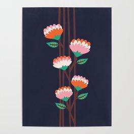 Benoít Flowers Poster