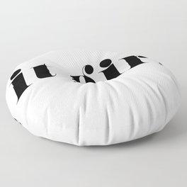 It Girl - Black Typography Floor Pillow