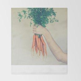 Carrots Throw Blanket