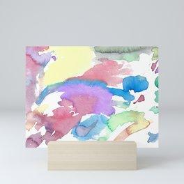 Multicolor watercolor Mini Art Print