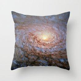 Galaxy Messier 63 Deep Field Telescopic Photograph Throw Pillow