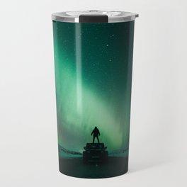 Colorful Northern Lights Travel Mug