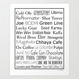 Coffee Shops of Philadelphia Art Print