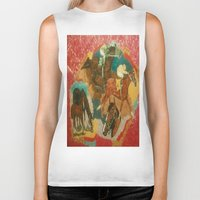 racing Biker Tanks featuring Racing Collage by Connie Campbell