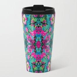 Neon Floral Travel Mug