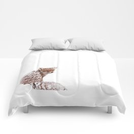 A Fox Fantasy (Red Fox in the snow)  Comforters