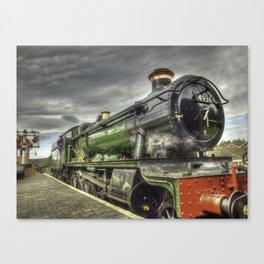 Steam Locomotive 4936 Kinlet Hall Canvas Print