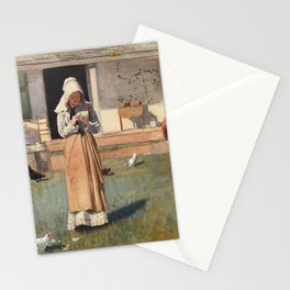 Winslow Homer's a Sick Chicken (1874)  Stationery Cards