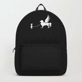 Hippogriff Pet Walked By Girl Backpack