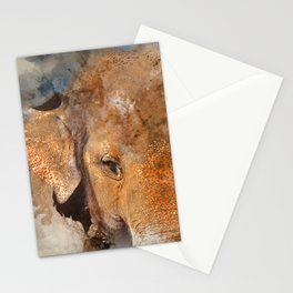 Elephant Watercolour Stationery Cards